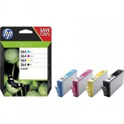 HP Cartucho Multipack 364 Negro+ Color - Imagen 1