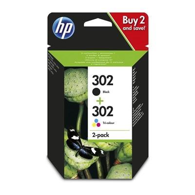 HP Cartucho Multipack 302 Negro+ Color - Imagen 1