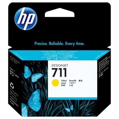 HP Cartucho 711  Amarillo - Imagen 1