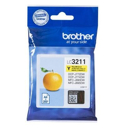 Brother Cartucho LC3211Y Amarillo  Blister - Imagen 1