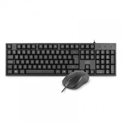 1LIFE Kit Teclado+ratón BASE KIT USB SLIM 1000dpi - Imagen 1