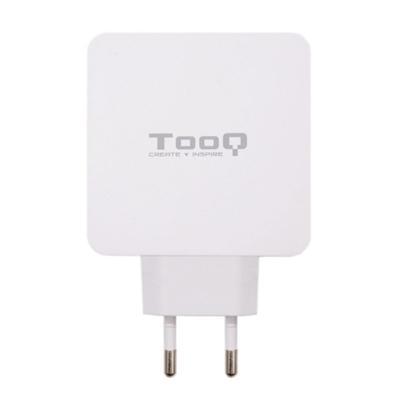Tooq Cargador de pared doble USB-C PD+ USB A - Imagen 1