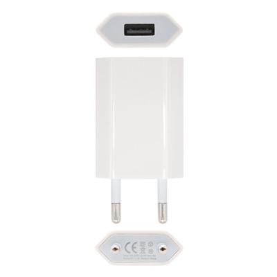 Mini Cargador USB  Ipod /Iphone 5V-1A, Blanco - Imagen 1