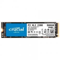 Crucial CT500P2SSD8 P2 SSD 500GB M.2  NVMe PCIe - Imagen 1