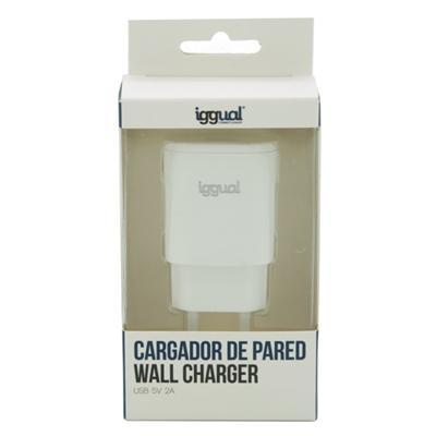 iggual cargador de pared 1xUSB 5V/2A (10W) - Imagen 1