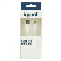 iggual cable USB-A/micro-USB 100 cm blanco - Imagen 1