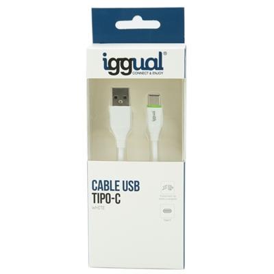 iggual cable USB-A/USB-C 100 cm blanco - Imagen 1