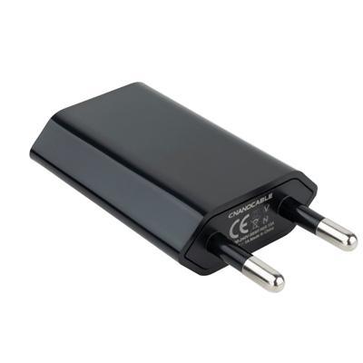 Mini Cargador USB  Ipod /Iphone 5V-1A Negro - Imagen 1
