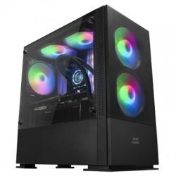 Mars Gaming Caja MCZ PREMIUM M-ATX 2X FRGB Negra - Imagen 1