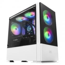Mars Gaming Caja MCZ PREMIUM M-ATX 2X FRGB Blanca - Imagen 1