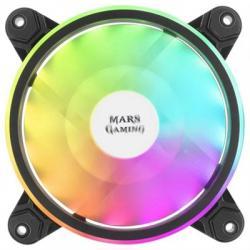 Mars Gaming Ventilador MFX DUAL ARGB 14DB BLACK - Imagen 1