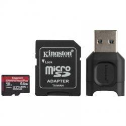 Kingston MLPMR2 microSDXC UHS-II 64GB c/a - Imagen 1