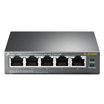 TP-LINK TL-SF1005P Switch 5x10/100Mbps 4xPoE Metal - Imagen 1
