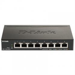 D-Link DGS-1100-08PV2 8xGb PoE Smart Switch (64W) - Imagen 1