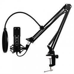 iggual Micrófono USB con brazo ajustable Pro Voice - Imagen 1