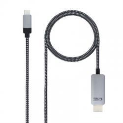Nanocable Cable conversor  USB-C/M a HDMI/M 3 m - Imagen 1