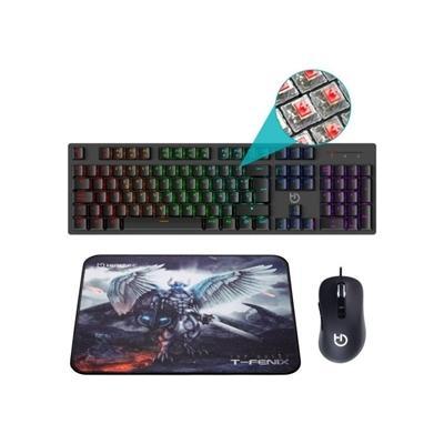 Hiditec Combo Gaming GK400 Tecl+Rat+Alfombrilla - Imagen 1