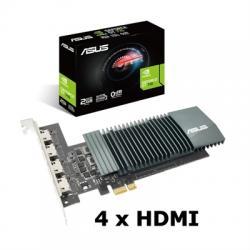 ASUS VGA NVIDIA GT 710-4H-SL-2GD5 2GB 4 monitores - Imagen 1