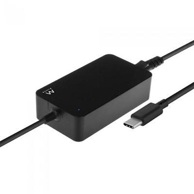 Ewent CARGADOR SLIM DE PORTÁTIL USB-C DE 45W - Imagen 1