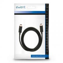 Ewent Cable USB-C CARGA RÁPIDA 100W 20Gbps 4K 1m - Imagen 1