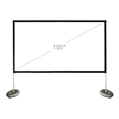 "iggual Pantalla exterior portable 100"" 221x124 cm - Imagen 1"