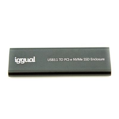 iggual Caja externa USB-C 3.1 SSD M.2 NVMe y SATA - Imagen 1