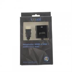 iggual Adaptador HDMI a VGA + audio (3.5 mm) - Imagen 1
