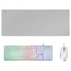 Mars Gaming Combo MCPX GAMING 3IN1 RGB BLANCO - Imagen 1