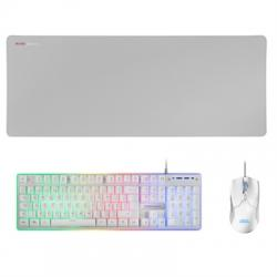 Mars Gaming Combo MCPX GAMING 3IN1 RGB WHITE PT - Imagen 1