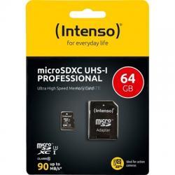 Intenso 3433490 Micro SD UHS-I profesiona 64GB - Imagen 1